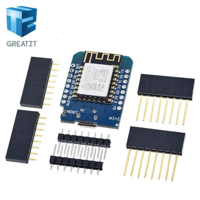 GREATZT 1PCS D1 mini  - Mini NodeMcu 4M bytes Lua WIFI Internet of Things development board based ESP8266 by WeMos