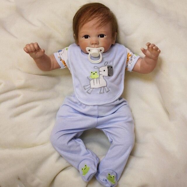 50cm NPK Boneca Baby Reborn Silicone Vinly Alive Bebe Dolls American Babies Dolls for Children Birthday Gift Brinquedos