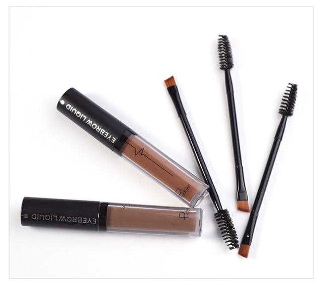 Brand Eyebrow Enhancers Brush Kits Waterproof Henna Eyebrow Gel Black Brown Pigments Liquid Eye Brow Tattoo Tint Makeup Eyebrows 3