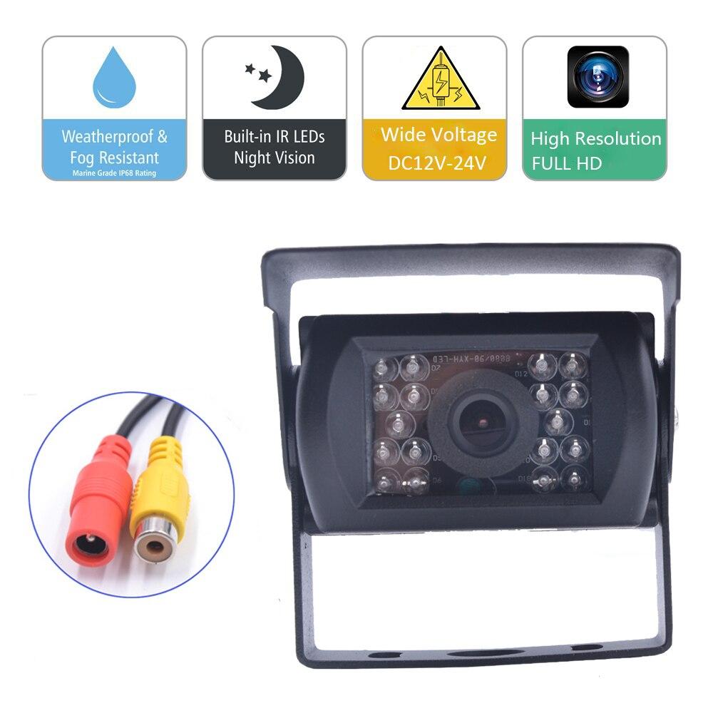 Камера заднего вида для грузовика 12В-24В, камера ночного видения, водонепроницаемая камера заднего вида с 18 ИК-подсветкой для прицепа/RV