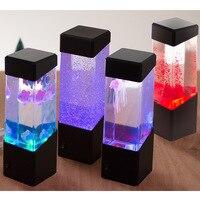 Bestfire лампы мигают лампы вулкан Jelly Fish Ночная электронных Медузы аквариум исцеления Медузы Ночная