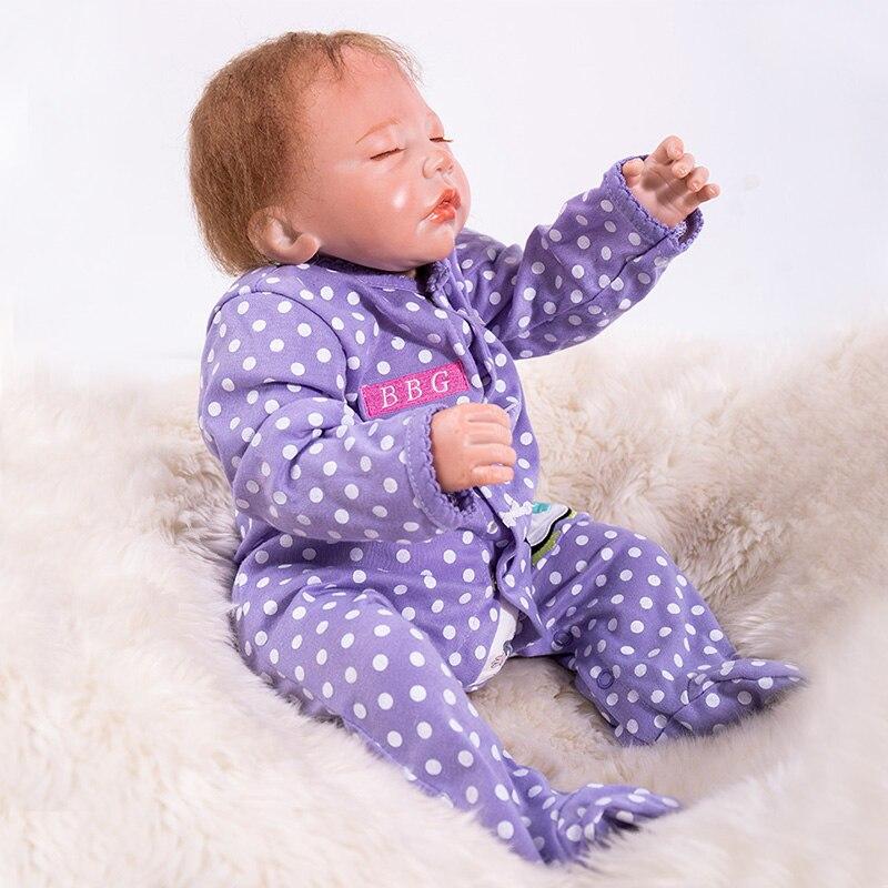 48 cm Bebe poupée Reborn Silicone Reborn bébé garçon poupées pour enfants filles jouets cadeau doux au toucher dormir poupées renaître vivant Bonecas