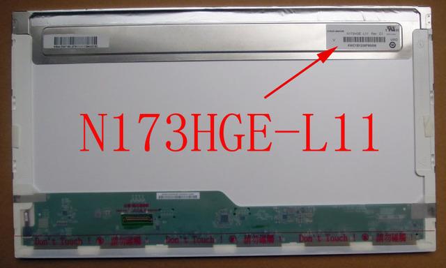 N173HGE-L11 N173HGE L11 17.3 40pin Pantalla 1920 LVDS LCD Portátil de Pantalla 1920*1080 FHD MATE