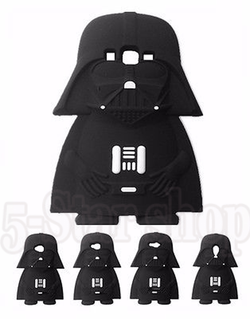 Star Wars 3D Darth Vader Gel Rubber Cover Case Samsung Galaxy Grand Core Prime Duos S4/S5/S6/S6 Edge/A5/A7/E5/E7/J1Ace/J5/J7  -  Factory store