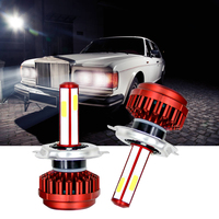 1 Pair Car Headlight Super Bright DC 9 36V COB LED Auto Headlamp H4 H7 H8