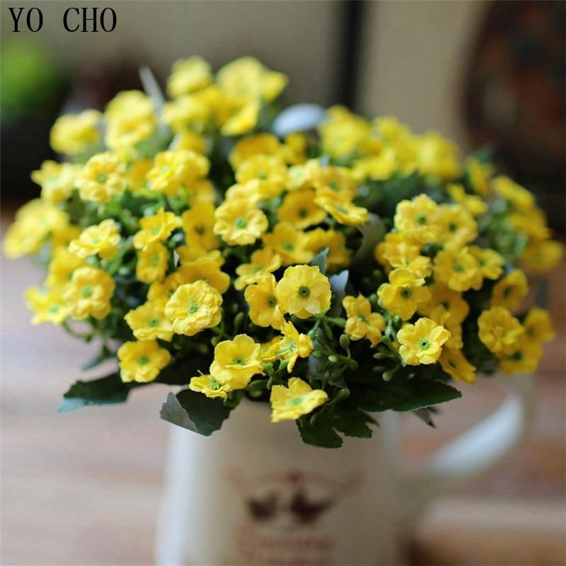 36 heads wedding bridal bouquet supplies christmas decoration flower wholesale wedding PE milan decorative artificial flower