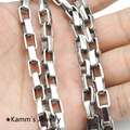 Wholesale,6mm Width 316L Stainless steel Necklace Chain For Men 40/45/50/55/60/65/70cm Length KN056