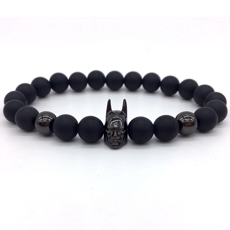 2018 New Fashion Batman Men Bracelet Classic Fashion Stone ...