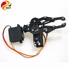 Black 2 DOF Manipulator Mechanical Arm Gripper Clamp kit for Robot MG996R DIY RC Toy Parts(China)