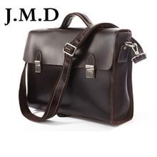 J.M.D High Quality 100% Genuine Leather Men Messenger Bags Handbag Business Laptop Bag Shoulder Bag For Men Leather Bag 7155