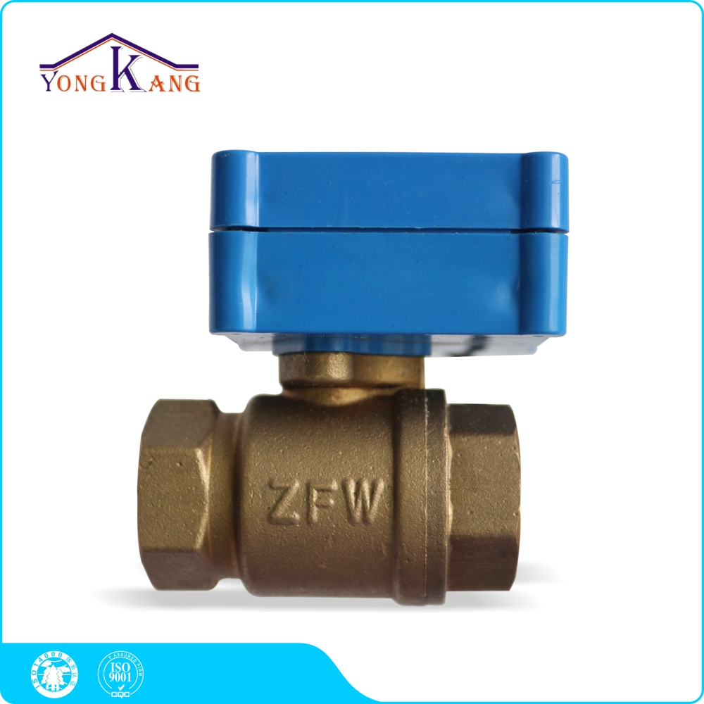 ФОТО Yongkang DN20 Brass Material Motorized Valve Automatic Water Shut Off Valve