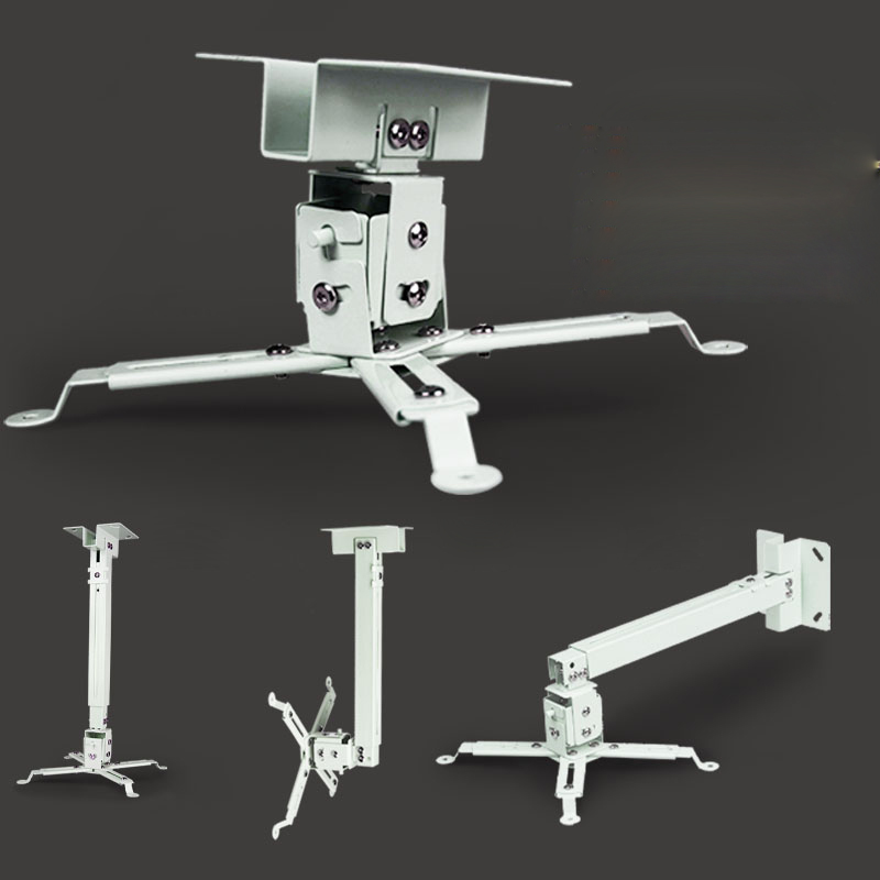 White Color Beamer Ceiling Mount 43 To 65cm Working Distance For HD LCD LED 3D Projector Wall Bracket Hanging