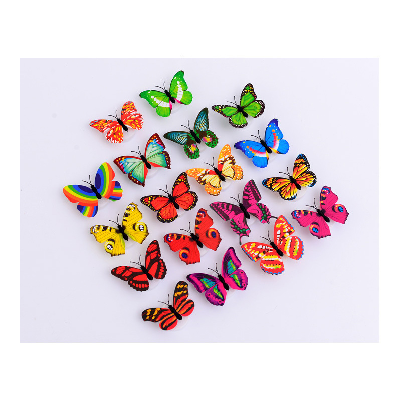 Creative Butterfly Night Light Ornaments Ecofriendly Sticking Stunning Butterfly Home Decor Accessories