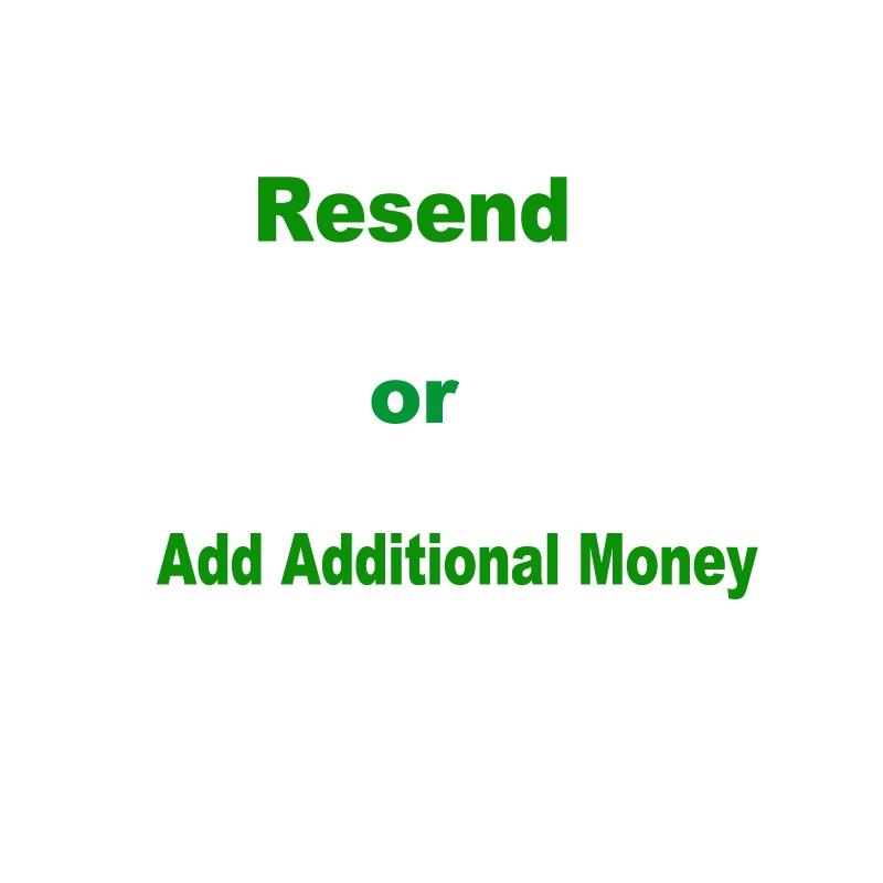 Le lien uniquement pour ajouter de l'argent supplémentaire ou renvoyer une commande