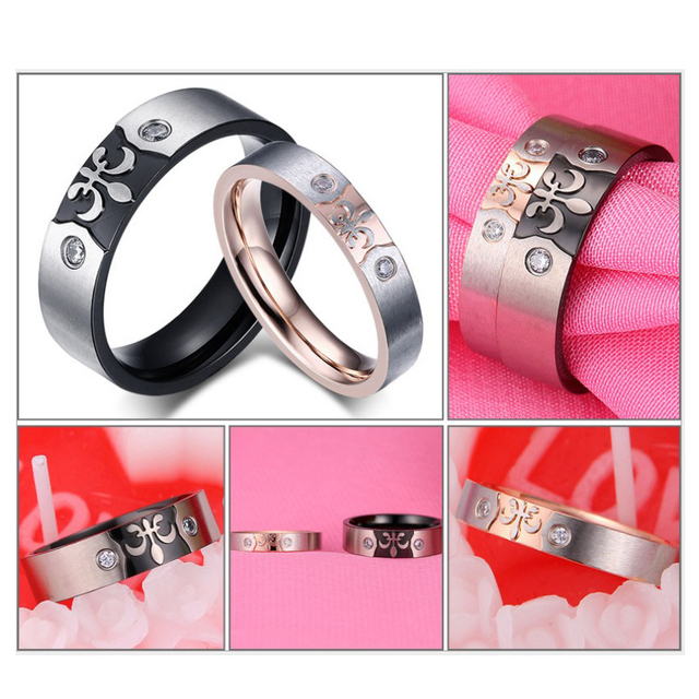 Couple ring for women and men engrave