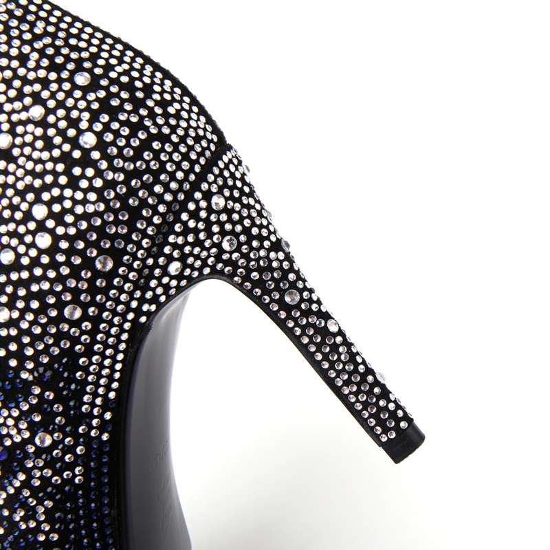 Véritable Haute Tacon En Mujer Zapatos Chaud Blue Talons Pompes Marque Bottes De Parti Strass Cuir Chaussures silver Femme Argent Femmes Luxe Cheville xCqxwO07