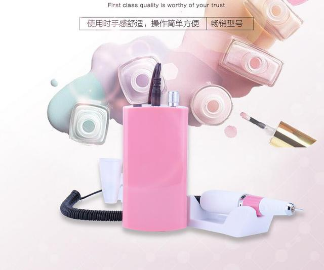 Rechargeable 18W 30000RPM White Electric Nail Drill Machine Acrylic ...