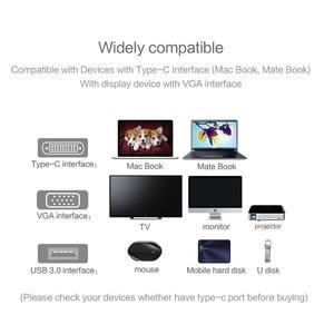Image 5 - 3 in 1 미니 디스플레이 포트 vga 암 어댑터 컨버터 케이블 유형 c vga 어댑터 3 in 1 멀티 포트 usb 3.0 4 k 충전 변환