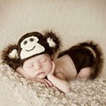 Photo Props 0-6 Months Newborn Baby Clothing Set Animal Monkey Costume Crochet Photo Props Photography   5SY43
