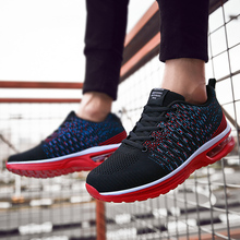 2019 Fashion Trendy Men Shoes Light Breathable Run Air Cushion Sneakers Flyknit Outdoor Lace-up Increase Casual
