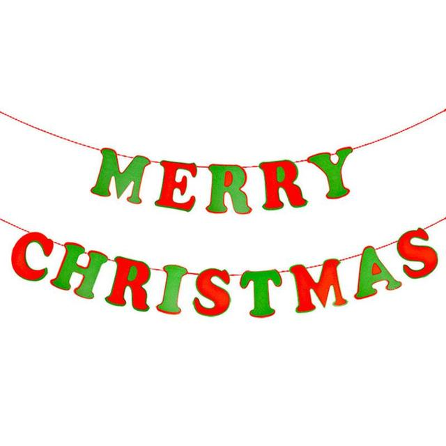 merry christmas letter banners photo prop bunting garland hanging decoration xmas tree ornaments home party christmas