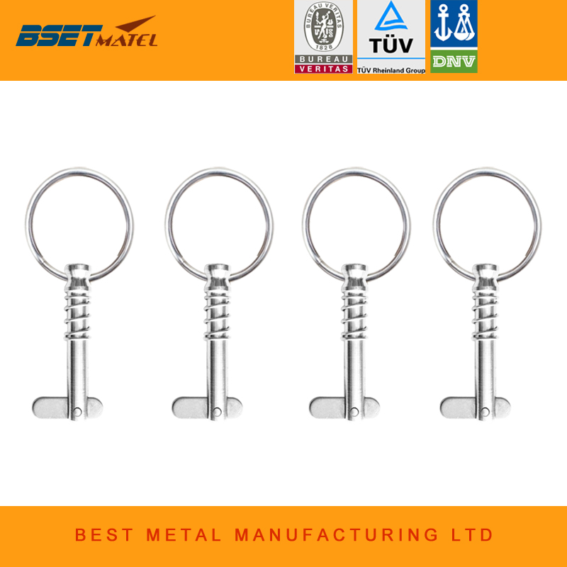 4PCS BSET MATEL Marine Grade 6.3*42mm 1/4 inch Quick Release Pin with Ring for Boat Bimini Top Deck Hinge Marine hardware 4PCS BSET MATEL Marine Grade 6.3*42mm 1/4 inch Quick Release Pin with Ring for Boat Bimini Top Deck Hinge Marine hardware