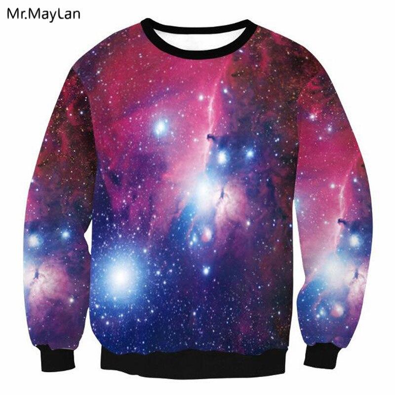 Men Women Hoodies 3D Print Galaxy Pullover Sweatshirt Tops Jumper Sweater Hoody