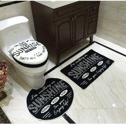 4 piece/set Super soft Shu Velveteen thickening toilet potty sets toilet seat cover Totoro Cartoon Warm Close Stool Cushion Mat