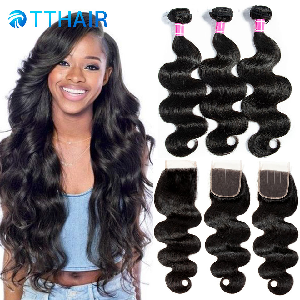 Brazilian Body Wave Bundles With Closure Brazilian Hair Bundles With Closure Human Hair 3 Bundles With