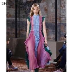 High quality new fashion 2017 summer dress runway dress womens sleeveless draped vesido de festa ly048.jpg 250x250