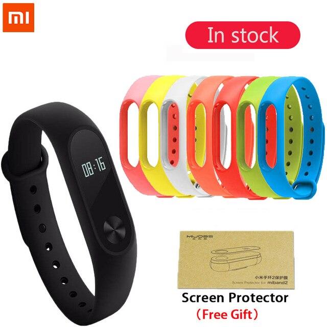 Оригинальный Xiaomi Mi band 2 Смарт-фитнес браслет часы браслет mi Группа OLED Touchpad сна Мониторы сердечного ритма Mi band2