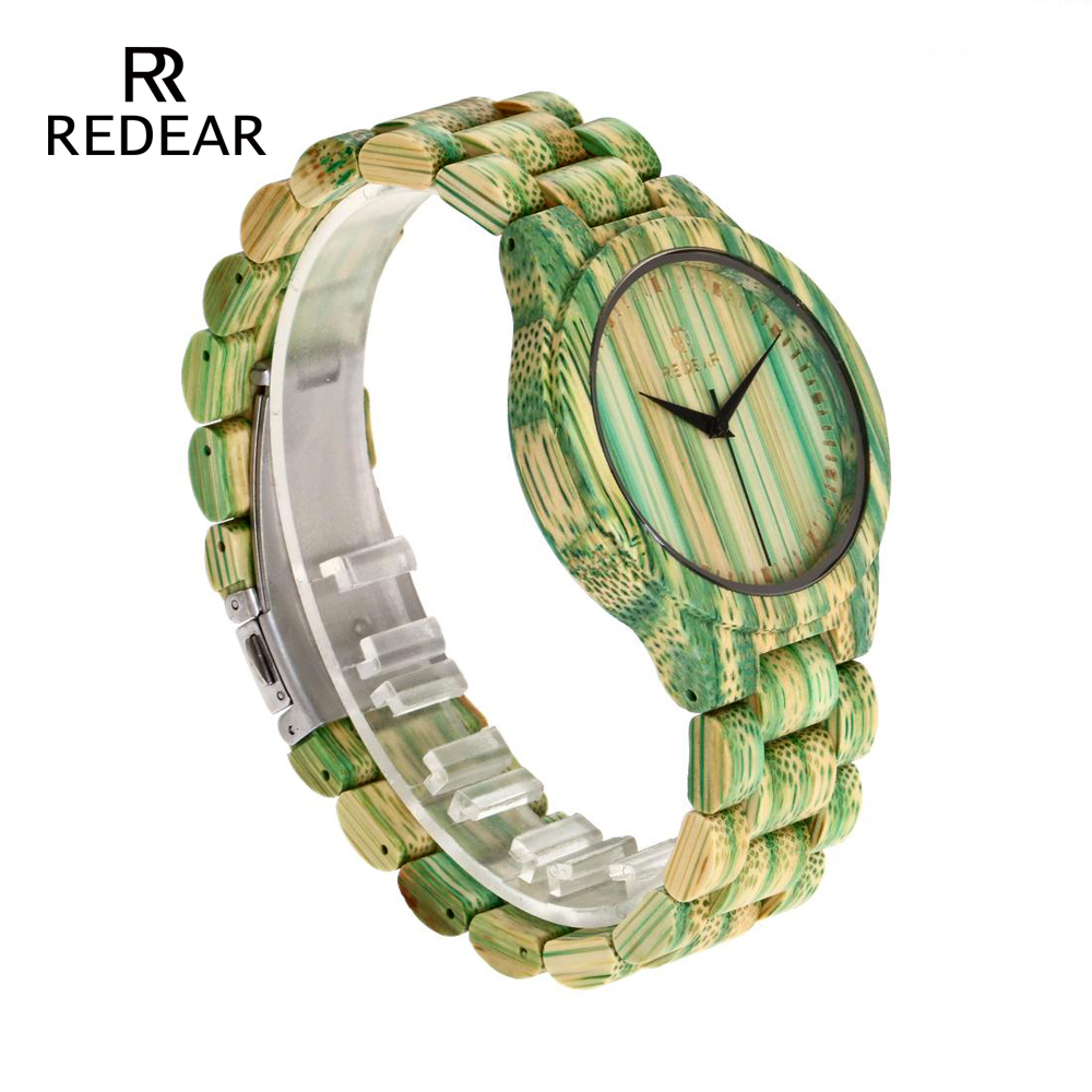 REDEAR Lover's Watches Green Bamboo Wood Watch Bamboo Band för - Damklockor - Foto 3
