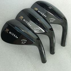 Cooyute NUOVE teste di Golf Miura nero cunei di Golf head Set 52, 54.56, 60 loft Golf Club head Nessuna albero Spedizione gratuita