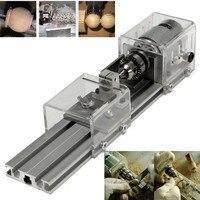 Brand New DC 24V Mini Lathe Beads Machine Woodworking DIY Lathe Polishing Cutting Drill Rotary Tool