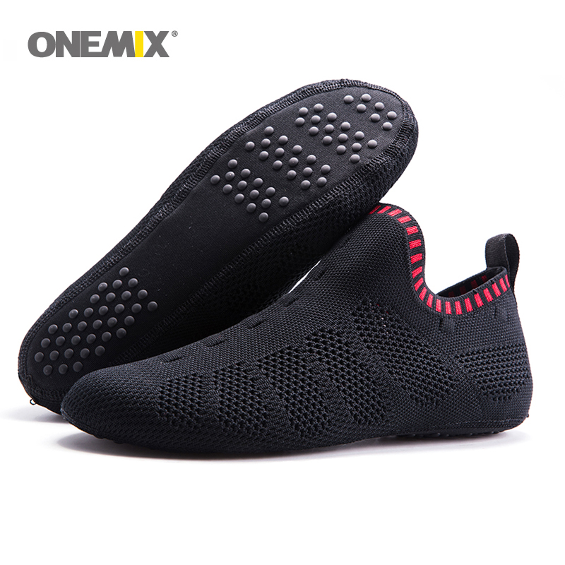 Onemix beach sandals slip on slippers no glue environmentally friendly light cool breathable walking shoes slipper