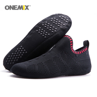 Onemix beach sandals slip on slippers no glue environmentally friendly light cool breathable walking shoes slipper socks Indoor