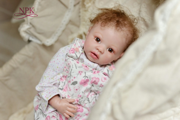 NPK cheap reborn doll with soft touch delicate vinyl kit Blank realistic real touch unpainted shipping npkcollection reborn doll kit wholesale unpainted blank doll kit soft vinyl reborn full vinyl body dakota