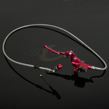 Motorcycle 900MM Hydraulic Foldable Clutch Levers Master Slave Cylinder For ATV Dirt Pit Bike 50cc-125cc Horizontal Engine