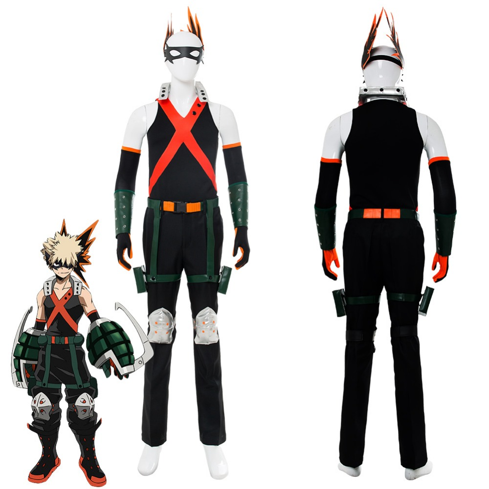 My Hero Academia Boku No Hero Academia Katsuki Bakugou Cosplay Costume Outfit Adult Men Halloween Costumes