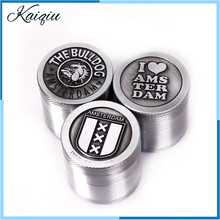 New Metal Grinding Tobacco Crusher 40mm zinc alloy cigarette box Portable Weed Herb Grinder Smoking Pipes & Accessories
