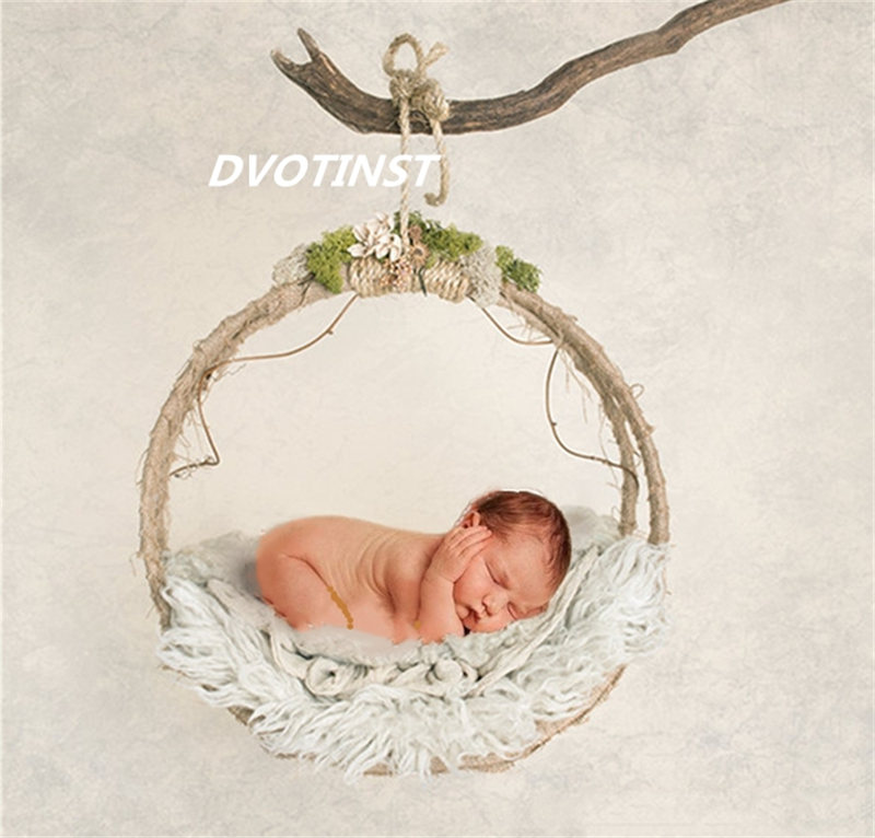 Baby Photography Props Iron Hanging Basket Box Decoration Fotografia Accessories Infantil Toddler Studio Shooting Photo Props dvotinst baby photography props flowers hanging basket decoration fotografia accessories infant toddler studio shooting photo
