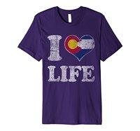 Kocham Colorado Życie Koszula Męska Koszulka Najniższa Cena 100% Bawełna