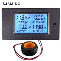 AC Измерители напряжения 100A/80 ~ 260 В цифровой светодиодный Мощность Панель метр Мониторы Мощность энергии вольтметр Напряжение измеритель то...