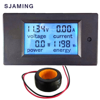 AC Voltage Meters 100A/80~260V Digital LED Power Panel Meter Monitor Power Energy Voltmeter Voltage Current Meter  Ammeter digital ac 80 260v 100a 4in1 voltage current power energy voltmeter ammeter watt power meter with split ct