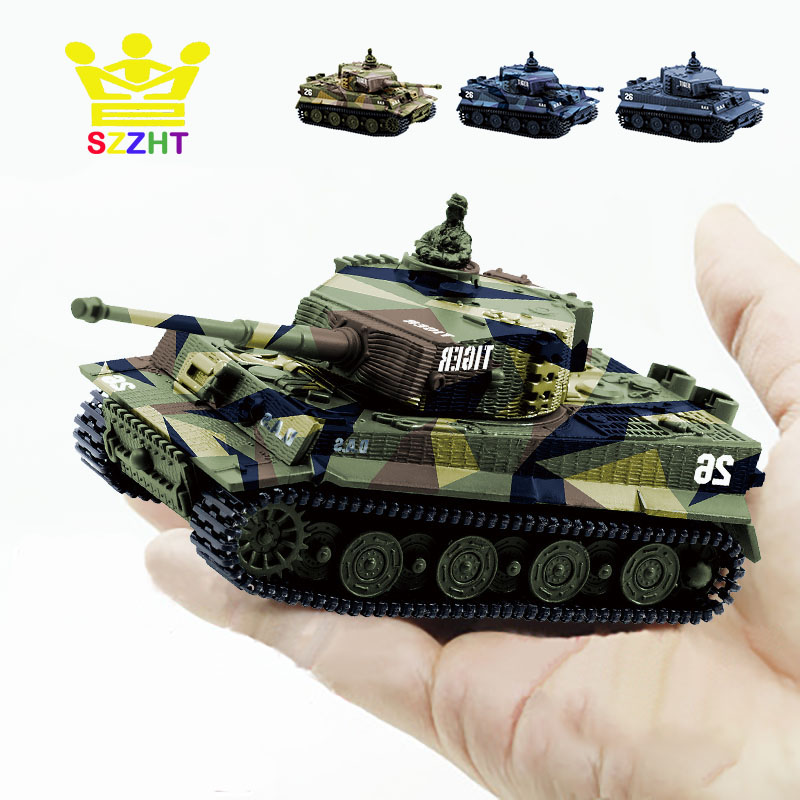 US $17 61 26% OFF|4 Colors Mini Tiger Military Battle RC Tank Remote Radio  Control Army Panzer Armored Children Electronic Toys for Boys Kids Gift-in