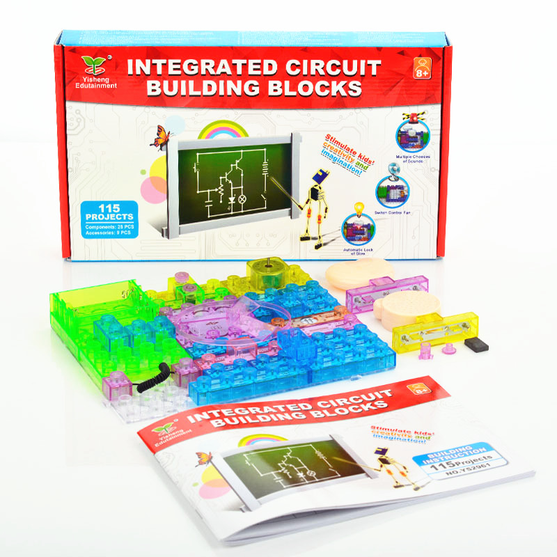 115 Projects DIY Circuit board falsh toy Integrated circuit electronic building blocks kids Student learn science