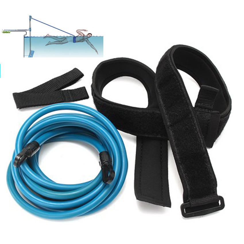 Fitness Bands You Can Swim With: Wellsem Swim Bungee Training Belt Resistance Band Leash