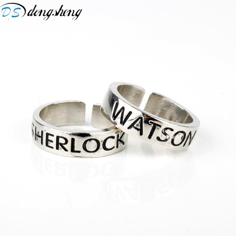 Dongsheng горячей фильма мстители, Sherlock отличного качества украшения Holmes рисунок, Sherlock отличного качества и Ватсон кольца открытие Adjustabale кольц...