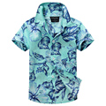 cotton 100% floral shirt hawaiian shirt aloha shirt for boy T1509