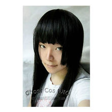 HOT sell Free Shipping >>>Fashion Long Black Three Flat Knife Cosplay Straight Hair/Wig 1M